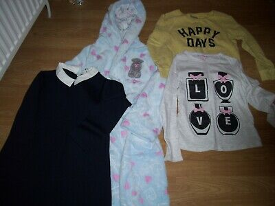 Girls winter bundle of clothing. Age 9/10 years.New dress, dressing gown, tops.