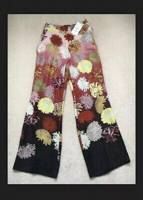 Zara Trousers Red Pink Yellow Black White Size S BNWTs