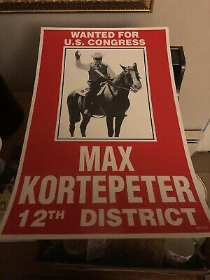 Vintage Congressional Campaign Poster NJ District 12 1990 Carl Max Kortepeter