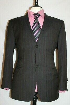"Mens Ted Baker Endurance Pick Stitched Designer Suit Uk 40 Short W36"" X L31"""