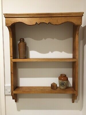 Antique Country Pine Shelf - Wall Mounted