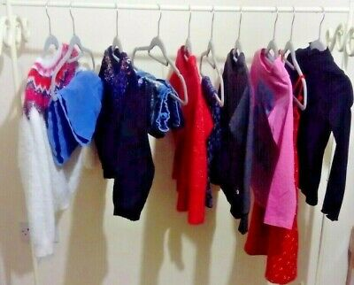 Girls 10 piece Clothes Bundle -Age 7-8 Yrs Mixed Brands NEXT, M&S, TU, 90 degree