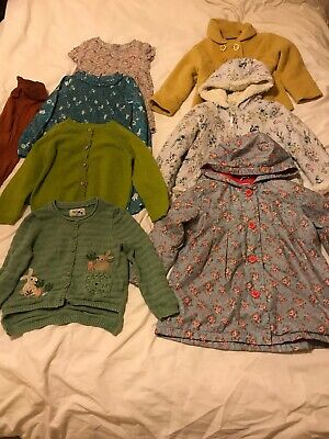 girls clothes bundle 3-4 years 3 Jacket 2 Dress 2 Cardigan Tights Most next