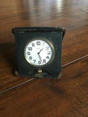 Vintage 1934 Swiss Made 8 Day Folding Clock
