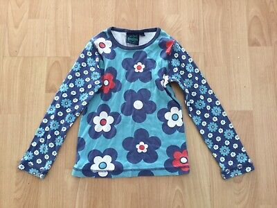 girls mini boden flower top age 5-6 years