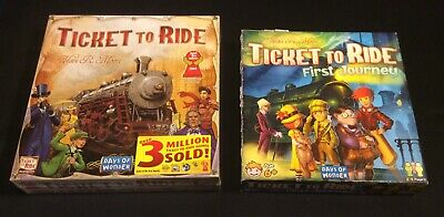 Days of Wonder Ticket To Ride Board Game Lot with First Journey Factory Sealed