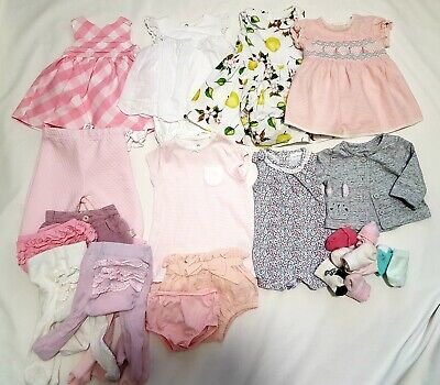 Baby Girls Clothes Bundle First Size, Up To 1 Month, Next/Mothercare/M&S Etc
