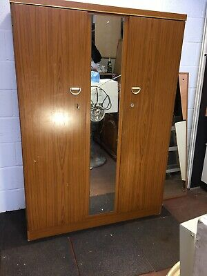 Vintage wardrobe with mirror   Free Manchester delivery