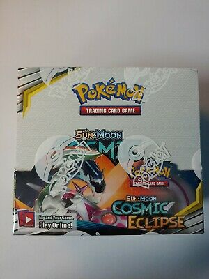 Pokemon COSMIC ECLIPSE Sun & Moon Booster Box Factory Sealed 36 packs
