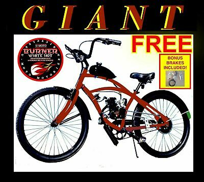 """GIANT 80cc Gas Motor Complete Motorized Engine & 26"""" Bike Bicycle Moped Scooter"""