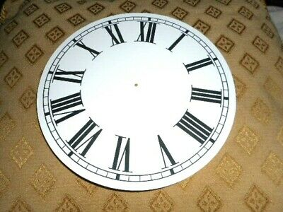"Round Paper (Card) Clock Dial- 7 1/2"" M/T - Roman - MATT WHITE - Parts/Spares"