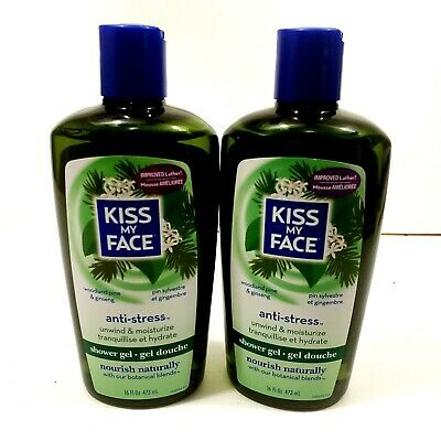 Kiss My Face Anti Stress Body Wash, 16 oz., Discontinued, 2 Pack, New