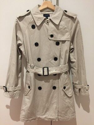 Witchery Cotton Trench Coat Size 8 Excellent Condition