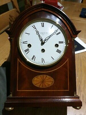 Comitti of London Regency Mahogany Westminster Chime Mantel Clock C4105CH