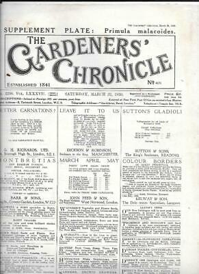 Magazine - The Gardeners' Chronicle March 22nd 1930 No 2256