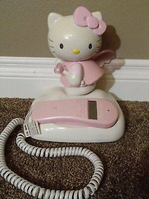 Hello Kitty Pink Phone Telephone Angel in the Clouds - Working!! Home Phone