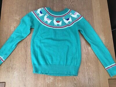 Boden Johnnie B Girls Christmas Jumper Age 11-12 Years