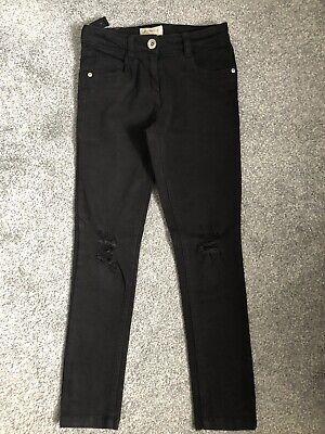 Girls Next Black Ripped Distressed Jeans , Age 10yrs Excellent Condition