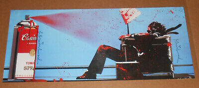 Mr. Brainwash Maxell Blown Away Guy Original Poster Warhol 36x16.5 SIGNED