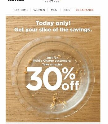 Kohls 30% off Purchase With ANY Tender Type In Store or Online Exp: Nov 17th