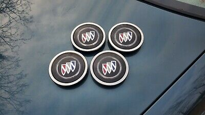 """1991-92 Buick Roadmaster Wire Spoke Center Caps for 15"""" Chrome Hubcaps Set of 4"""