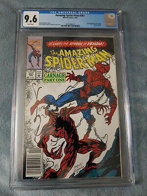 Amazing Spiderman 361 CGC 9.6 White Pages Newsstand edition Marvel Carnage