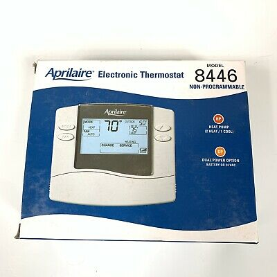 Aprilaire 8446 Thermostat - Dual-Stage Heating/Single-Stage Cooling