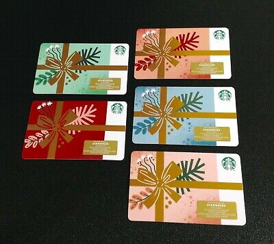 🇨🇦 2019 Canada Starbucks Christmas Gift Card ----- Set Of 5 Pcs. --- New