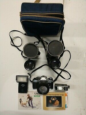 Canon AE-1 Program 35mm SLR Camera with 50mm f/1.8 Lens/wide angle/telephoto