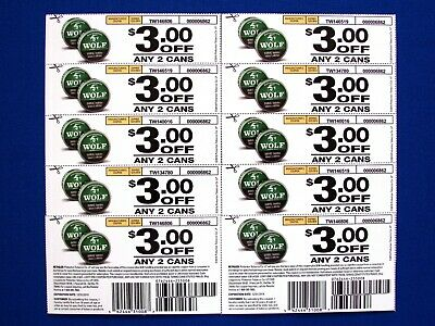 TIMBERWOLF ($3.00 OFF/2-Cans) Coupon (10-Total/$30.00) Exp; Dec 31, 2019