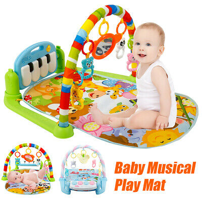 3-in-1 Musical Piano Mat Lullaby Baby Educational Floor Activity Play Gym Toy