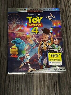 Toy Story 4 (2019) (Blu-ray + DVD + Digital Code) Brand New + Sealed