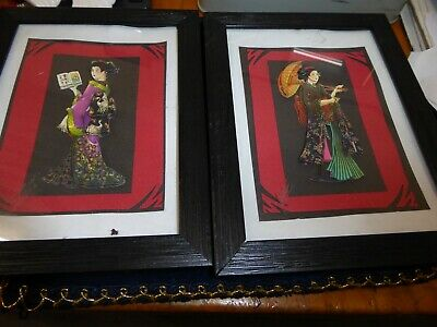 Small oriental pictures in black frames