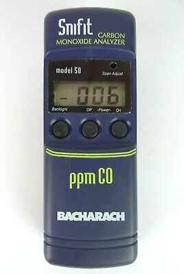 Bacharach Snifit 50 Digital Carbon Monoxide Analyzer Tester WORKS GREAT