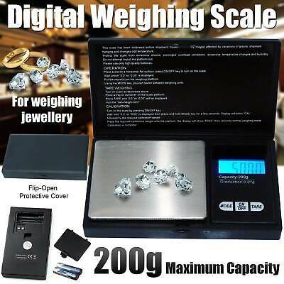 200g 0.1 Mini Small Pocket Digital Gold Jewellery Weighing Pans Scales Micro mg
