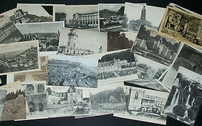 BULK LOT OF 65 ANTIQUE POSTCARDS European + other countries early 1900s