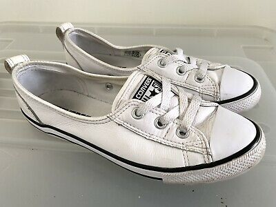 CONVERSE Ballet White LEATHER Sneakers Flats Size US 6 #15553