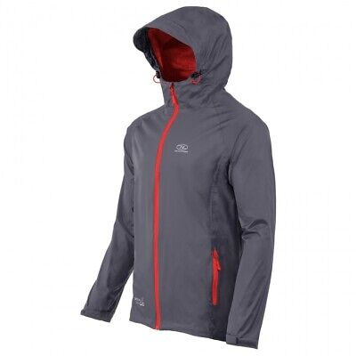 Highlander Chaqueta Impermeable Stow And Go Antracita Tamaño XL para Exterior R