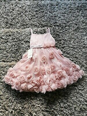 New Monsoon Girls Age 5 Years Pink Rose Party Prom Dress RRP £55