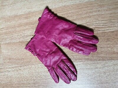 vintage Topshop pink real leather gloves