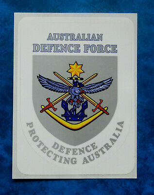 100mm by28mm GLOSS LAMINATED VINYL AUSTRALIA DEFENCE FORCE STICKER  Size apr
