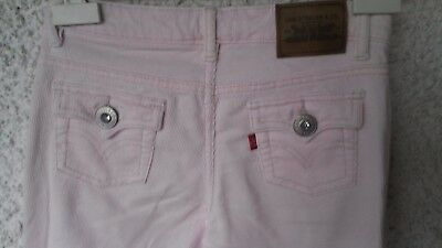 """Pantaloni In Velluto A Righine Rosa """"Levis"""""""