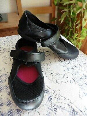Simply Be, Black Trainer Like Shoes with Adjustable Velcro straps size 5
