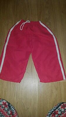 Girls Pink/white Light/thin trousers....age 4-5 years