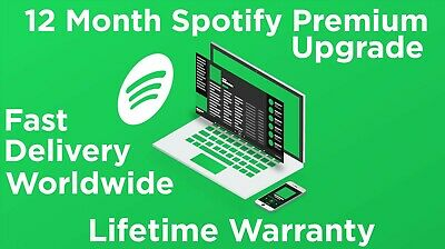 Spotify Premium 12 month Upgrade Fast Delivery✅ Worldwide!