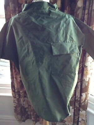 """VINTAGE FISHERMAN SMOCK TOP Silicon Coated Nylon Chest Measures 54"""" For Xl"""