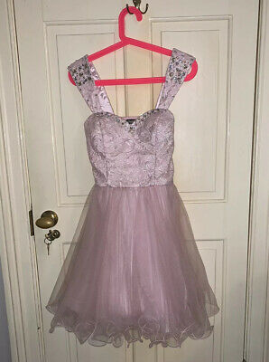 Quiz Pink Prom Dress w/ Tulle Tutu Skirt and Diamantés, Size 10, Christmas, NYE