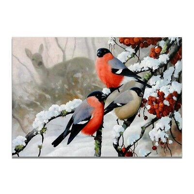 Chinese Birds Winter Landscape Canvas Art Poster Living Room Home Wall Decor