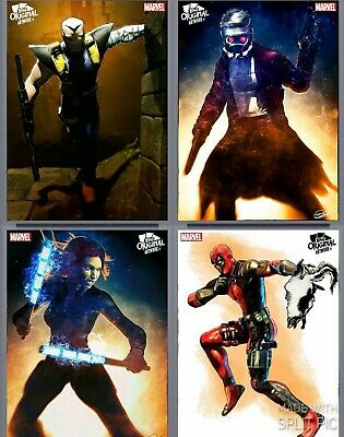 Topps Marvel Collect Card Original Artwork Murray Armed Deadpool Cable Widow++