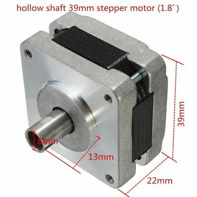 Stepper Motor 39mm Shaft Hybrid 4 Phase 5 Wire Design 1.8 Degrees Durable Strong